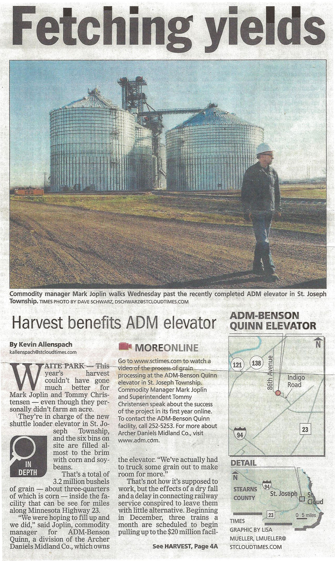 Cross Country Constructions recently built elevator
